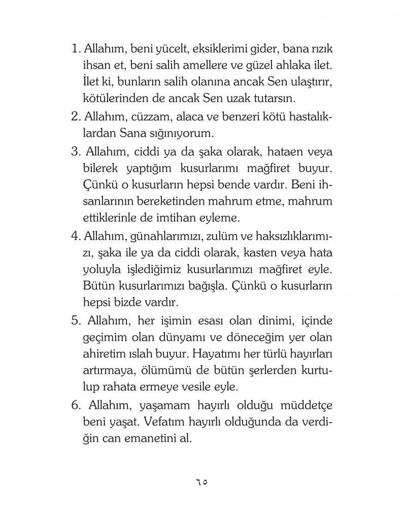 HERHANGİ BİR HÂL ve VAKİT İLE KAYITLI OLMADAN OKUNACAK DUALAR Sayfa-10