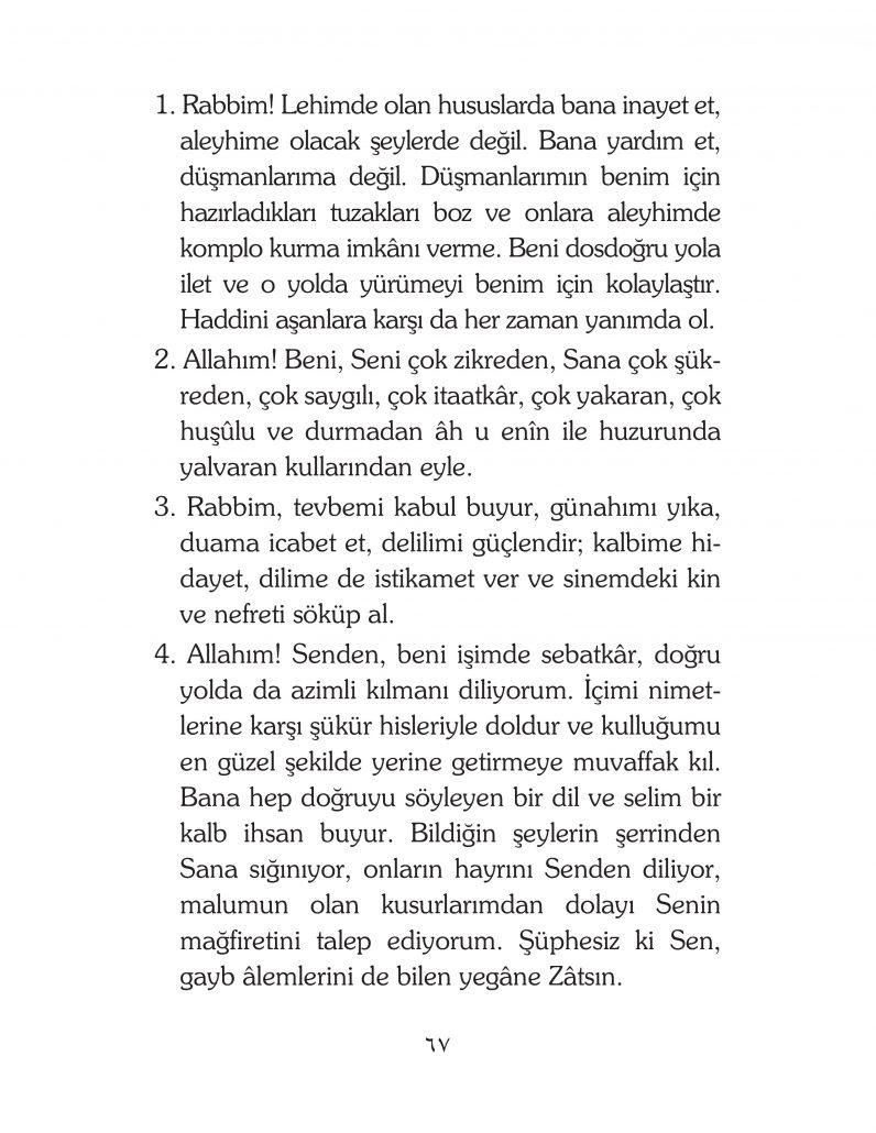 HERHANGİ BİR HÂL ve VAKİT İLE KAYITLI OLMADAN OKUNACAK DUALAR Sayfa-12