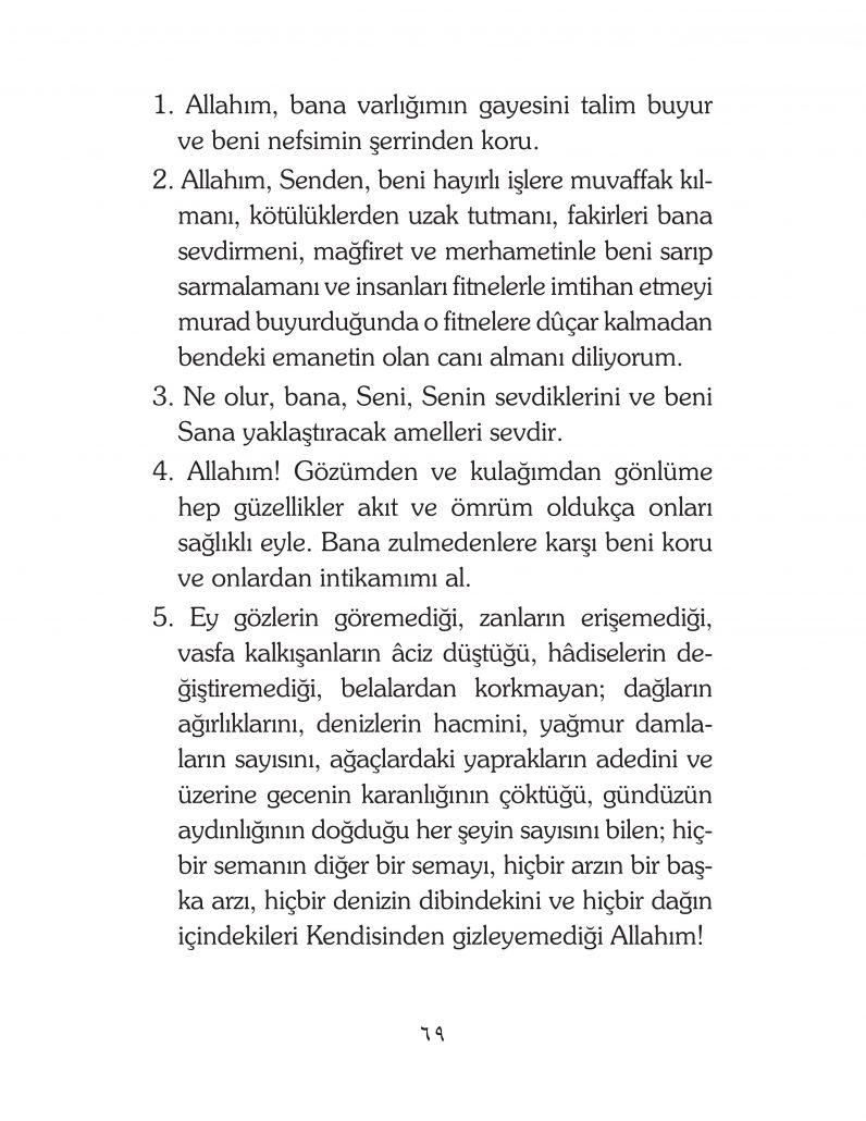 HERHANGİ BİR HÂL ve VAKİT İLE KAYITLI OLMADAN OKUNACAK DUALAR Sayfa-14
