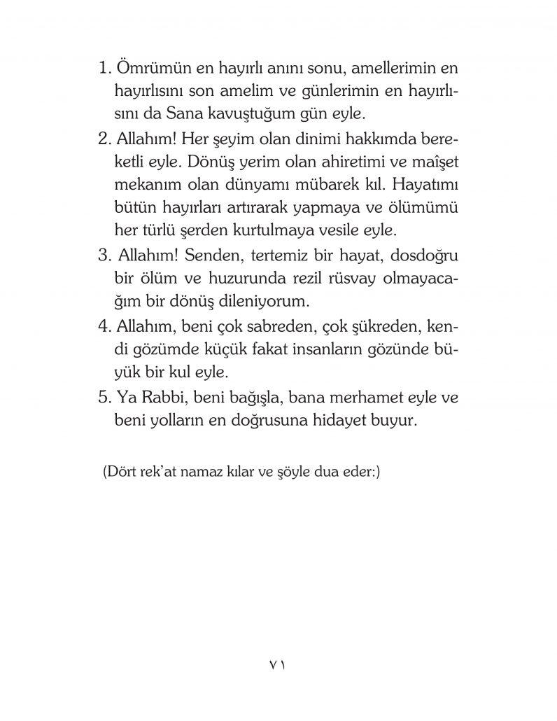 HERHANGİ BİR HÂL ve VAKİT İLE KAYITLI OLMADAN OKUNACAK DUALAR Sayfa-16