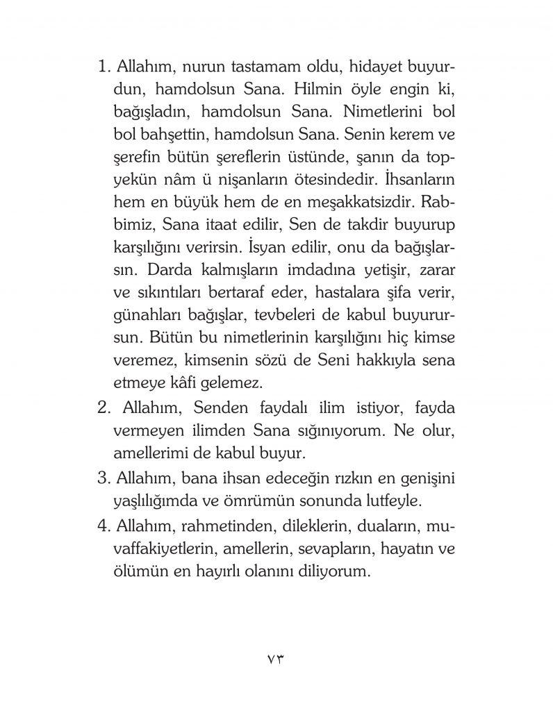 HERHANGİ BİR HÂL ve VAKİT İLE KAYITLI OLMADAN OKUNACAK DUALAR Sayfa-18