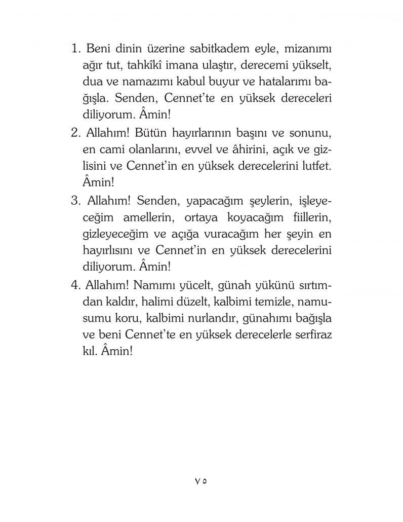 HERHANGİ BİR HÂL ve VAKİT İLE KAYITLI OLMADAN OKUNACAK DUALAR Sayfa-20