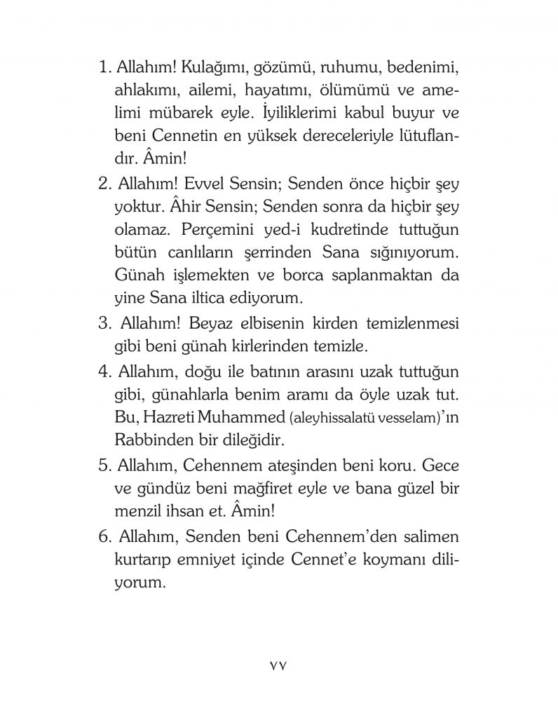 HERHANGİ BİR HÂL ve VAKİT İLE KAYITLI OLMADAN OKUNACAK DUALAR Sayfa-22