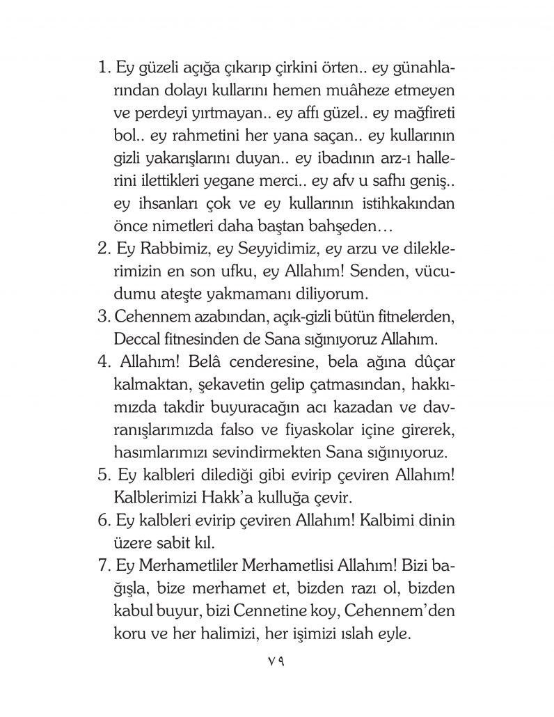 HERHANGİ BİR HÂL ve VAKİT İLE KAYITLI OLMADAN OKUNACAK DUALAR Sayfa-24