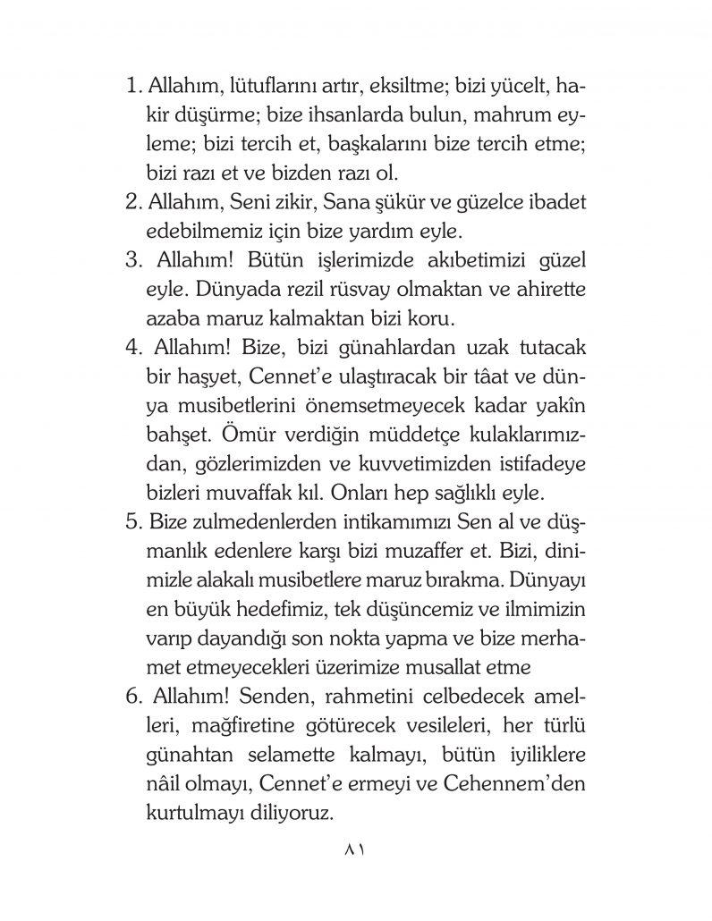 HERHANGİ BİR HÂL ve VAKİT İLE KAYITLI OLMADAN OKUNACAK DUALAR Sayfa-26