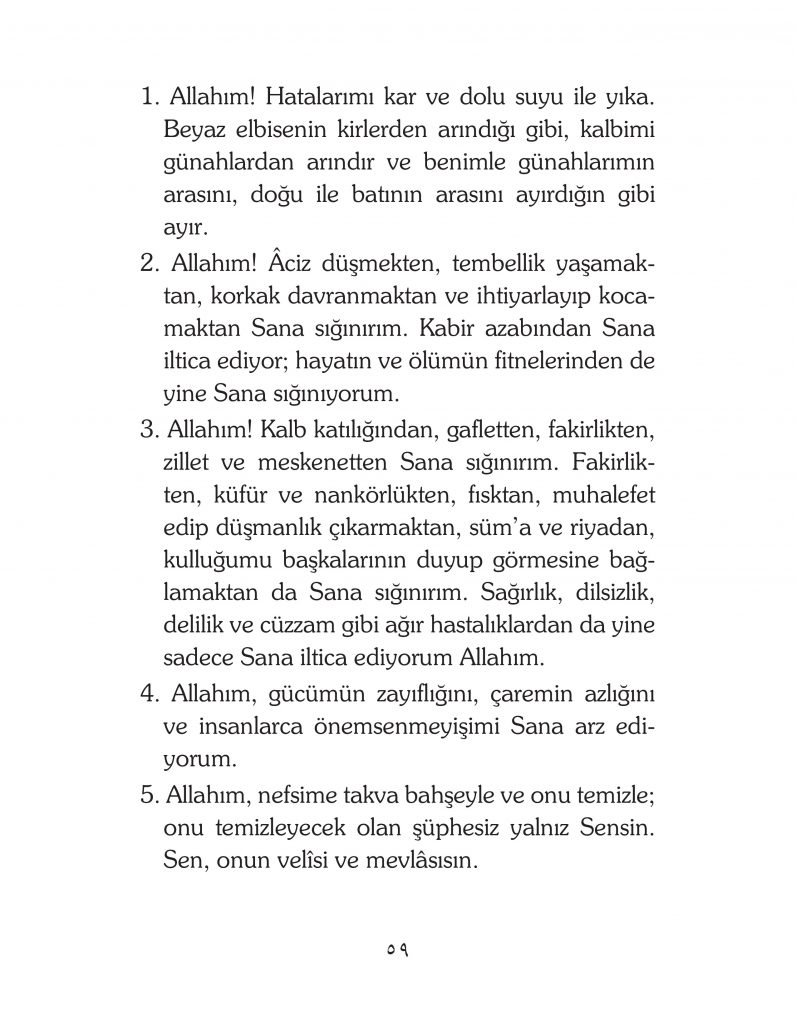 HERHANGİ BİR HÂL ve VAKİT İLE KAYITLI OLMADAN OKUNACAK DUALAR Sayfa-4