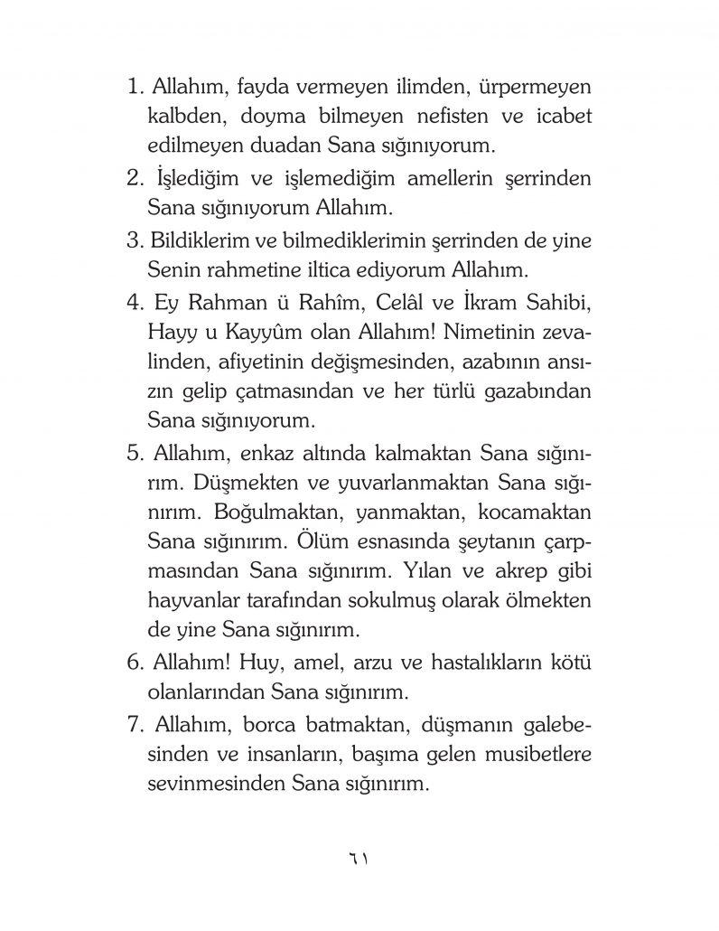 HERHANGİ BİR HÂL ve VAKİT İLE KAYITLI OLMADAN OKUNACAK DUALAR Sayfa-6