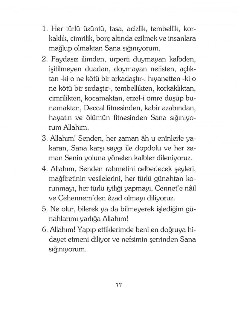HERHANGİ BİR HÂL ve VAKİT İLE KAYITLI OLMADAN OKUNACAK DUALAR Sayfa-8